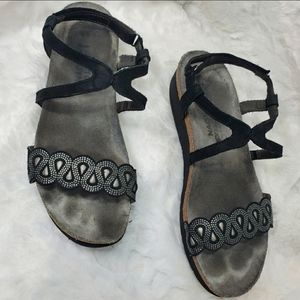Naot bling sandal in black